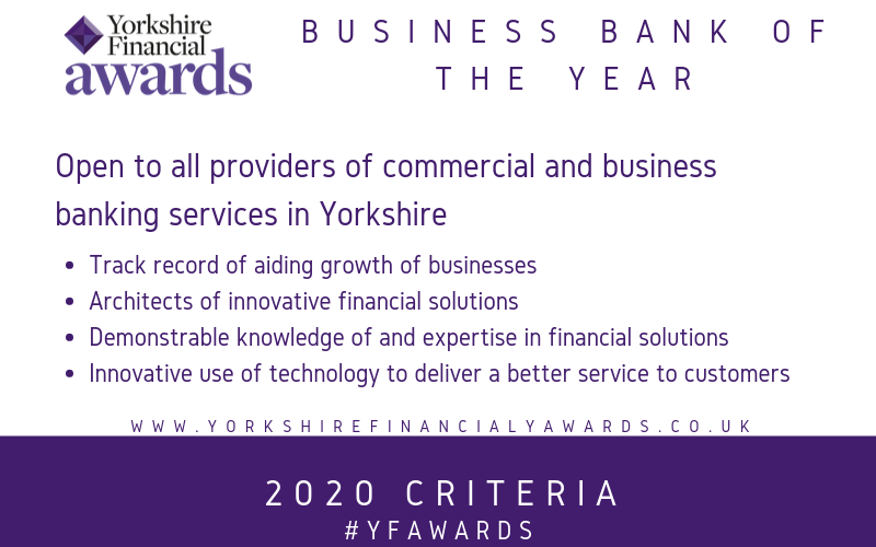 YFA 20 - Business Banking of the Year criteria